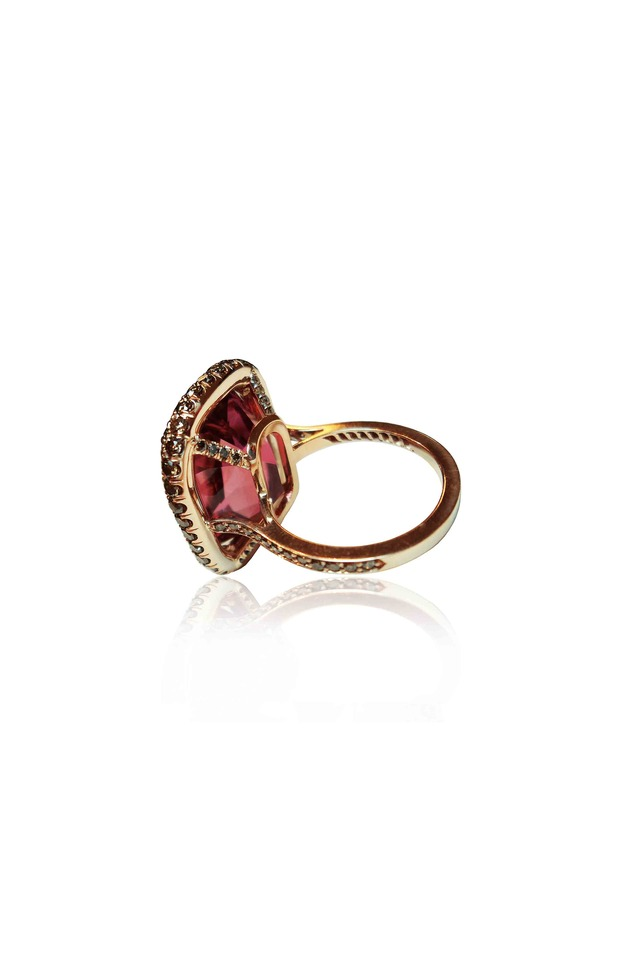 Gold Tourmaline Diamond Cocktail Ring