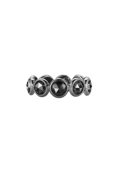 Paolo Costagli - White Gold & Black Rhodium Black Diamond Ring