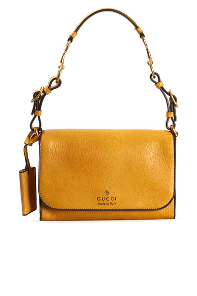 Gucci - Harness Yellow Leather Shoulder Bag