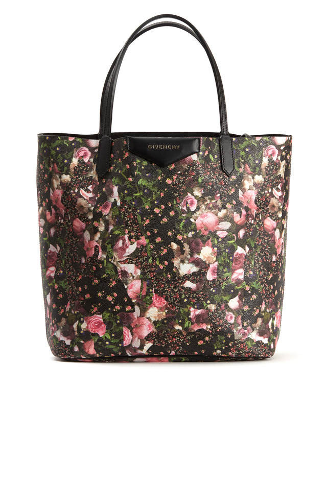 Antigona Multi Floral Canvas Small Tote