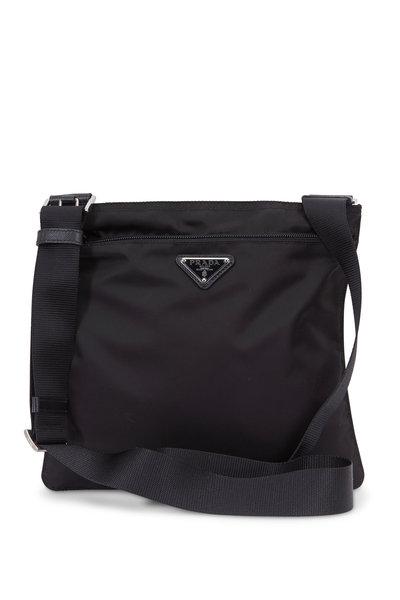 Prada - Vela Black Nylon Crossbody