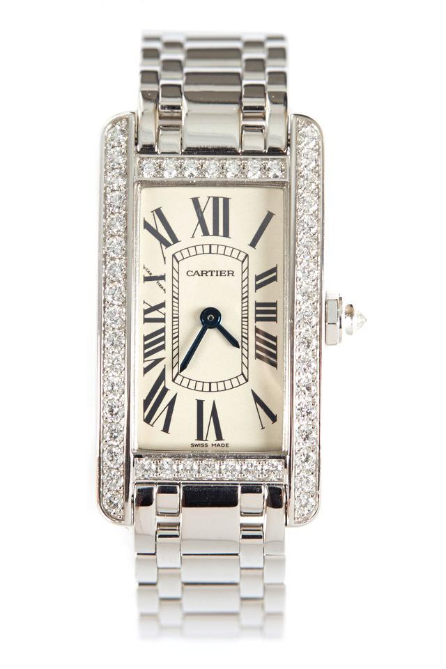 Tank Américaine White Gold Diamond Watch