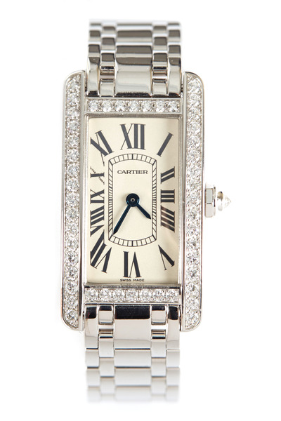 Cartier - Tank Américaine White Gold Diamond Watch