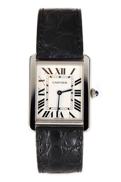 Cartier - Tank Solo Steel Leather Strap Watch