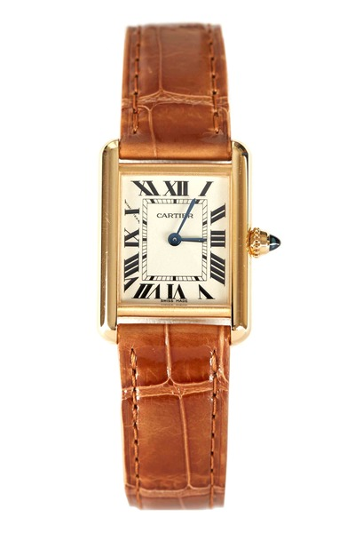Cartier - Tank Louis Cartier Gold Leather Strap Watch, Small