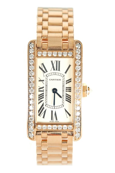 Cartier - Tank Américaine Pink Gold Diamond Watch