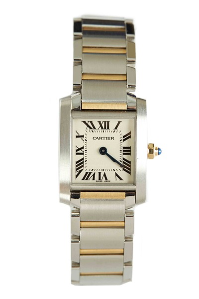 Cartier - Tank Francaise Yellow Gold & Steel Watch, Small