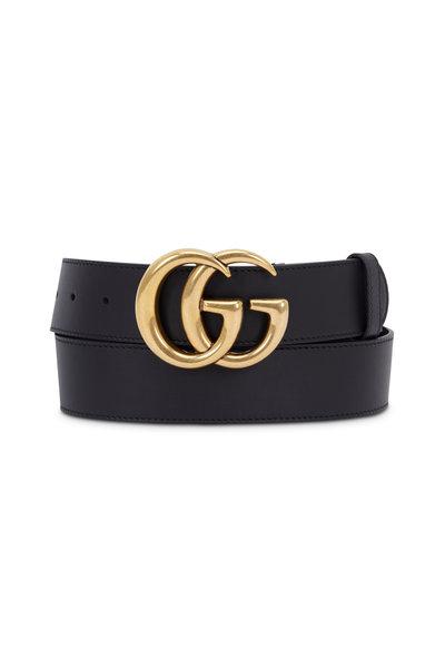 Gucci - New GG Black Leather Belt