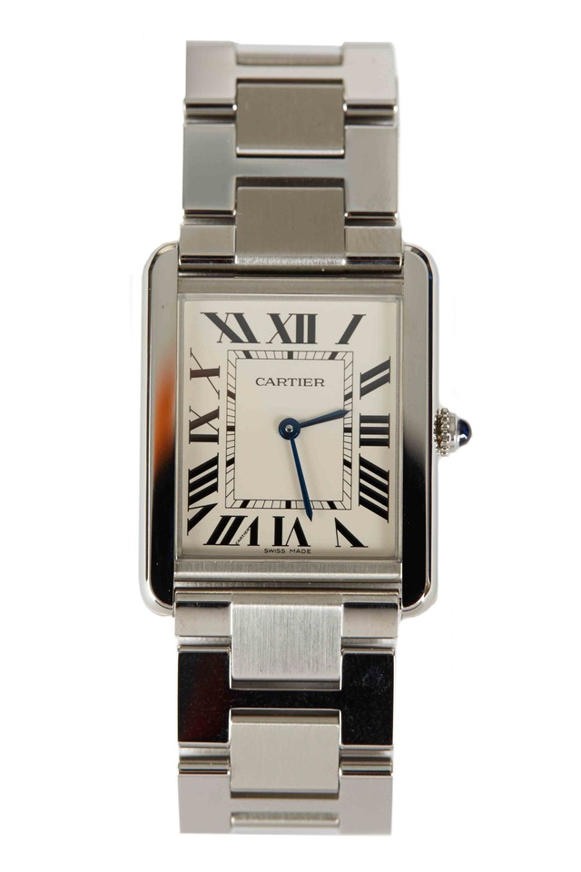 Tank Anglaise Stainless Steel Watch, Large