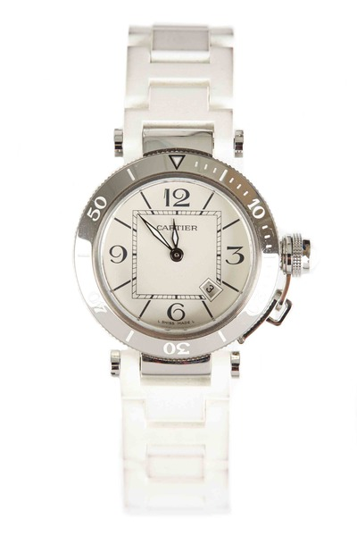 Cartier - Pasha Seatimer Steel Rubber Strap Watch