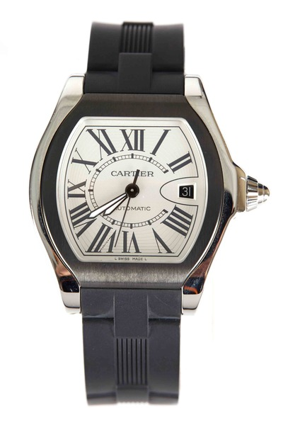 Cartier - Roadster Steel Rubber Strap Watch