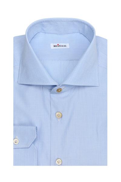 Kiton - Solid Light Blue Dress Shirt