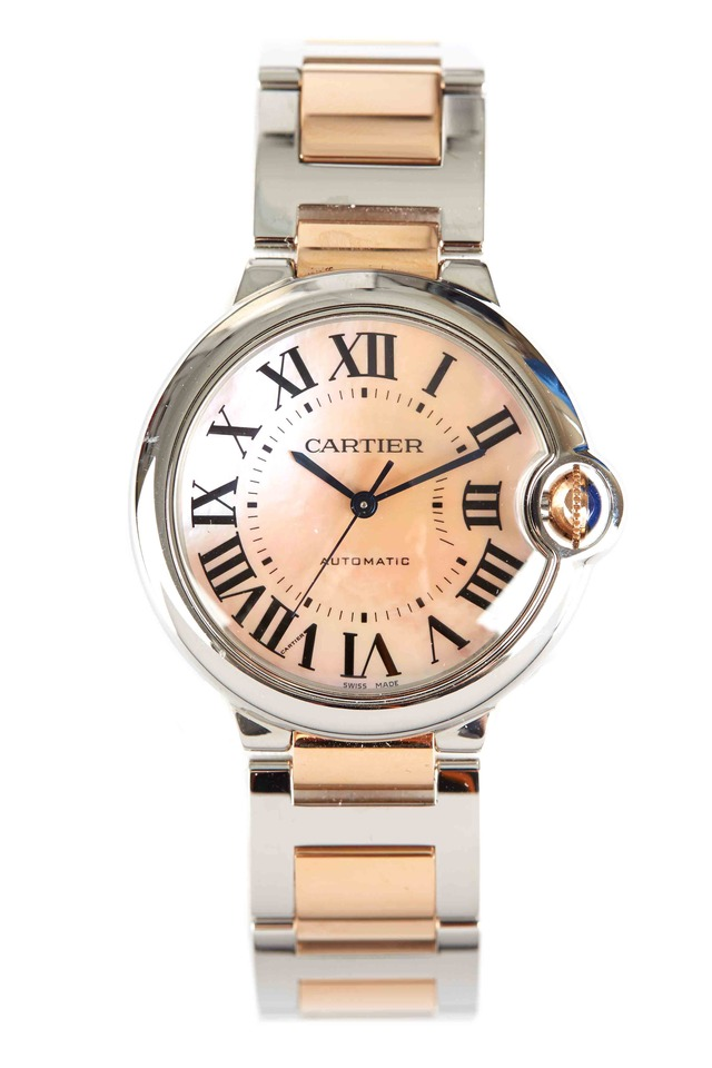 Ballon Bleu Pink Gold & Steel Watch