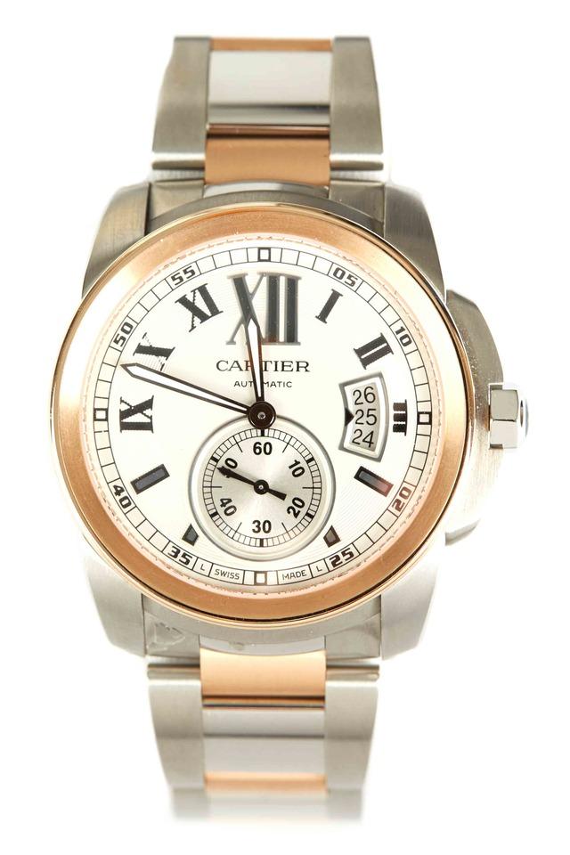 Calibre Pink Gold & Steel Watch