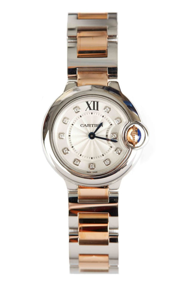 Ballon Bleu Pink Gold & Steel Diamond Watch