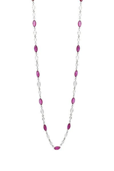 Fred Leighton - Ruby & Diamond Necklace