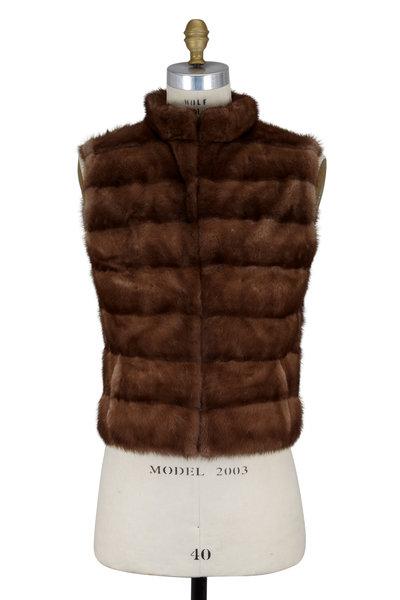 Oscar de la Renta Furs - Natural Wild Mink Reversible Vest