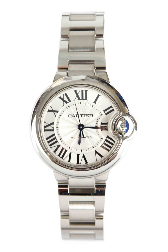Cartier Ballon Bleu Stainless Steel Watch, 33mm