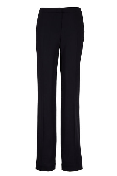 Escada - Tovah Black Stretch Wool Pant