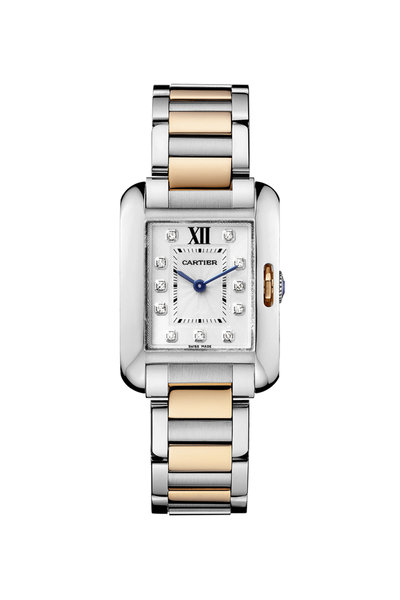 Cartier - Tank Anglaise Yellow Gold Diamond Watch