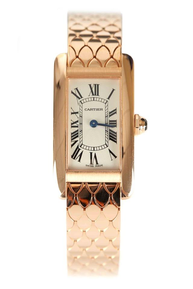 Tank Américaine Pink Gold Watch, Small