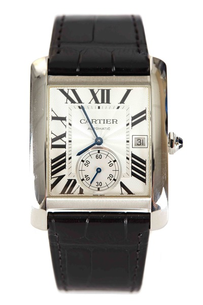 Cartier - Tank MC Steel Leather Strap Watch