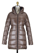 Herno - Black & Taupe Reversible Quilted Puffer Coat