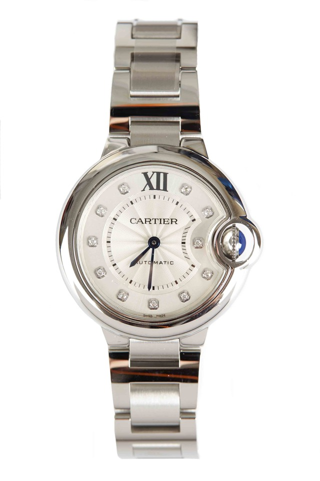Ballon Bleu Steel Automatic Diamond Watch