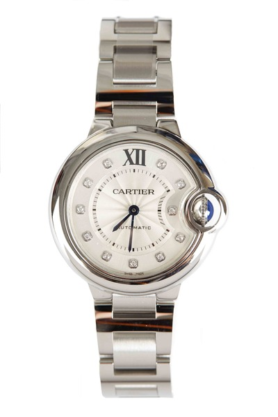 Cartier - Ballon Bleu Steel Automatic Diamond Watch