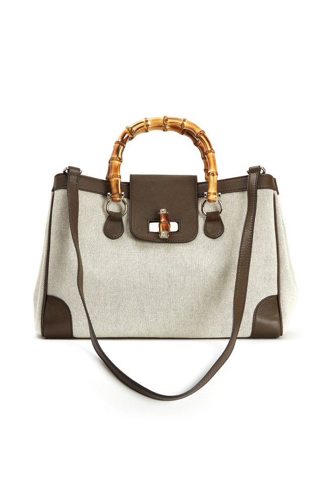 Beige Canvas Marcella Handbag