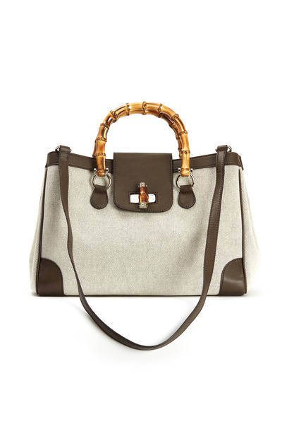 Fairchild Baldwin - Beige Canvas Marcella Handbag