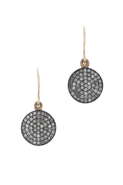 Dana Kellin - 14K Yellow Gold Pavé Diamond Earrings