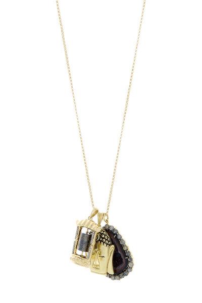 Kimberly McDonald - Yellow Gold Buddha Tibetan Prayer Necklace