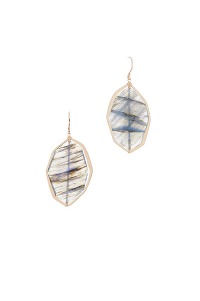 Dana Kellin - 14K Yellow Gold Labradorite Earrings
