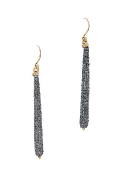 Dana Kellin - 14K Gold & Silver Diamond Tube Earrings