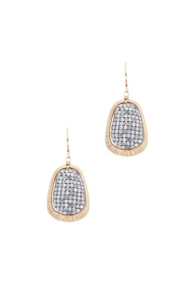 Dana Kellin - 14K Gold & Silver Pavé Diamond Drop Earrings
