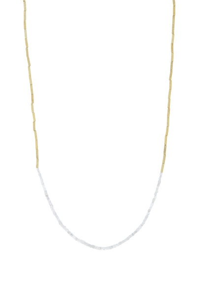 Dana Kellin - 14K Yellow Gold Gray Diamond Bead Choker Necklace