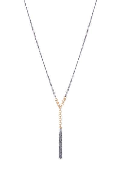 Dana Kellin - 14K Gold & Silver Pavé Pendant Necklace