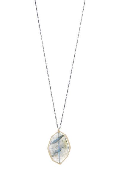 Dana Kellin - 14K Gold & Silver Labradorite Pendant Necklace