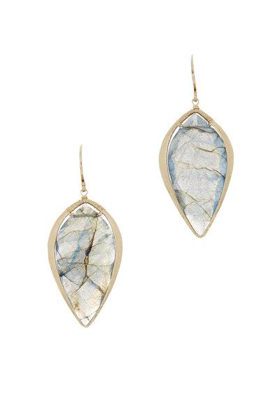 Dana Kellin - 14K Yellow Gold Labradorite Drop Earrings