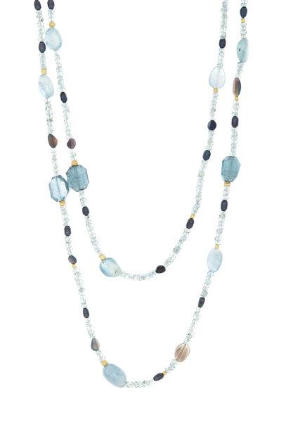 Dana Kellin - 14K Yellow Gold Pearl & Sapphire Bead Chain