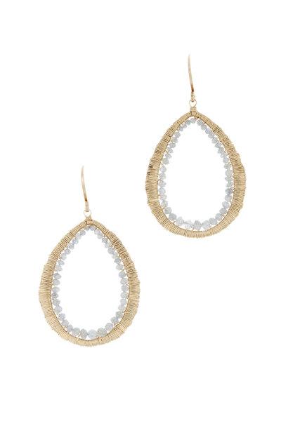 Dana Kellin - 14K Yellow Gold Gray Diamond Drop Earrings