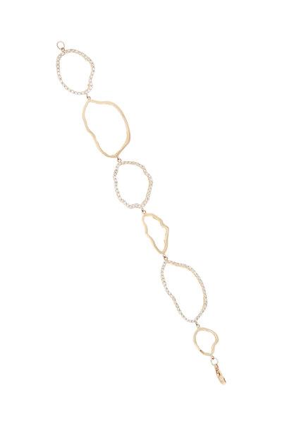 Kimberly McDonald - Rose Gold Geode Outline Diamond Bracelet