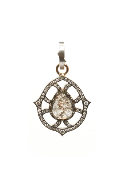 Sylva & Cie - 18K White Gold Multi-Diamond Pendant