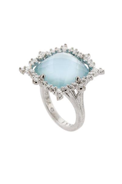 Paul Morelli - 18K White Gold Topaz & Diamond Ring