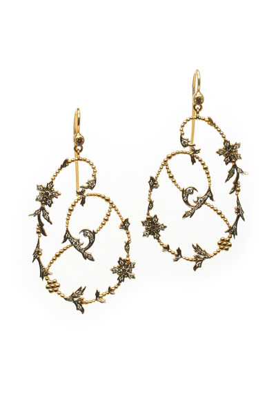 Sylva & Cie - 18K Yellow Gold Garden Party Diamond Earrings