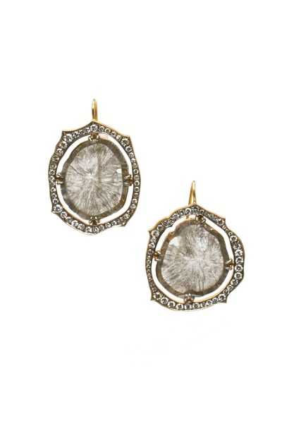 Sylva & Cie - 18K Yellow Gold Diamond Earrings