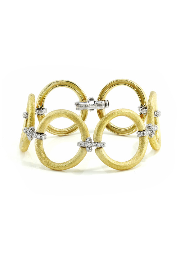 Aaron Henry Yellow Gold Circle Diamond Bracelet
