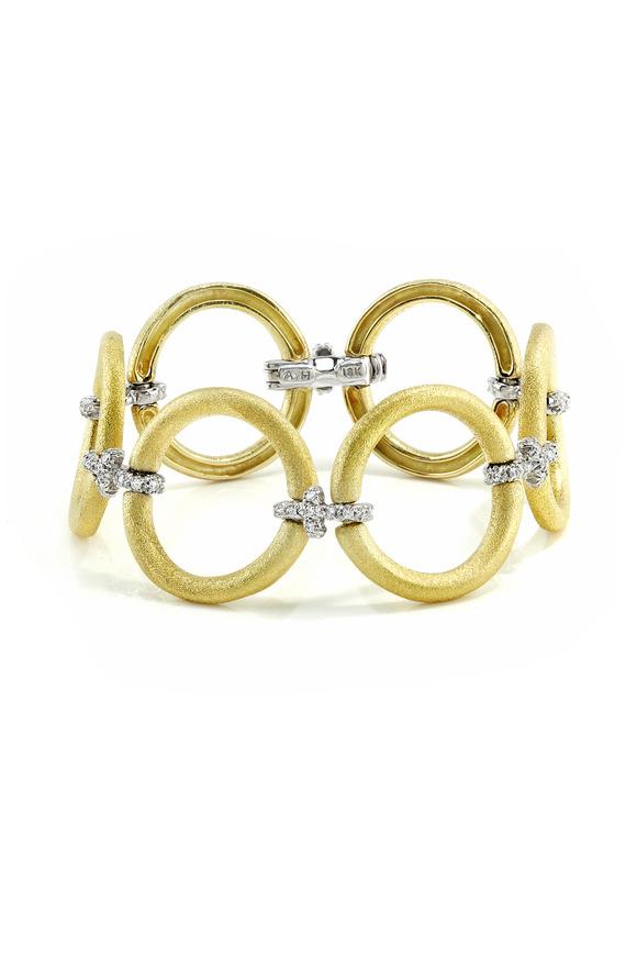 Aaron Henry Yellow Gold Circle Diamond Bracelet