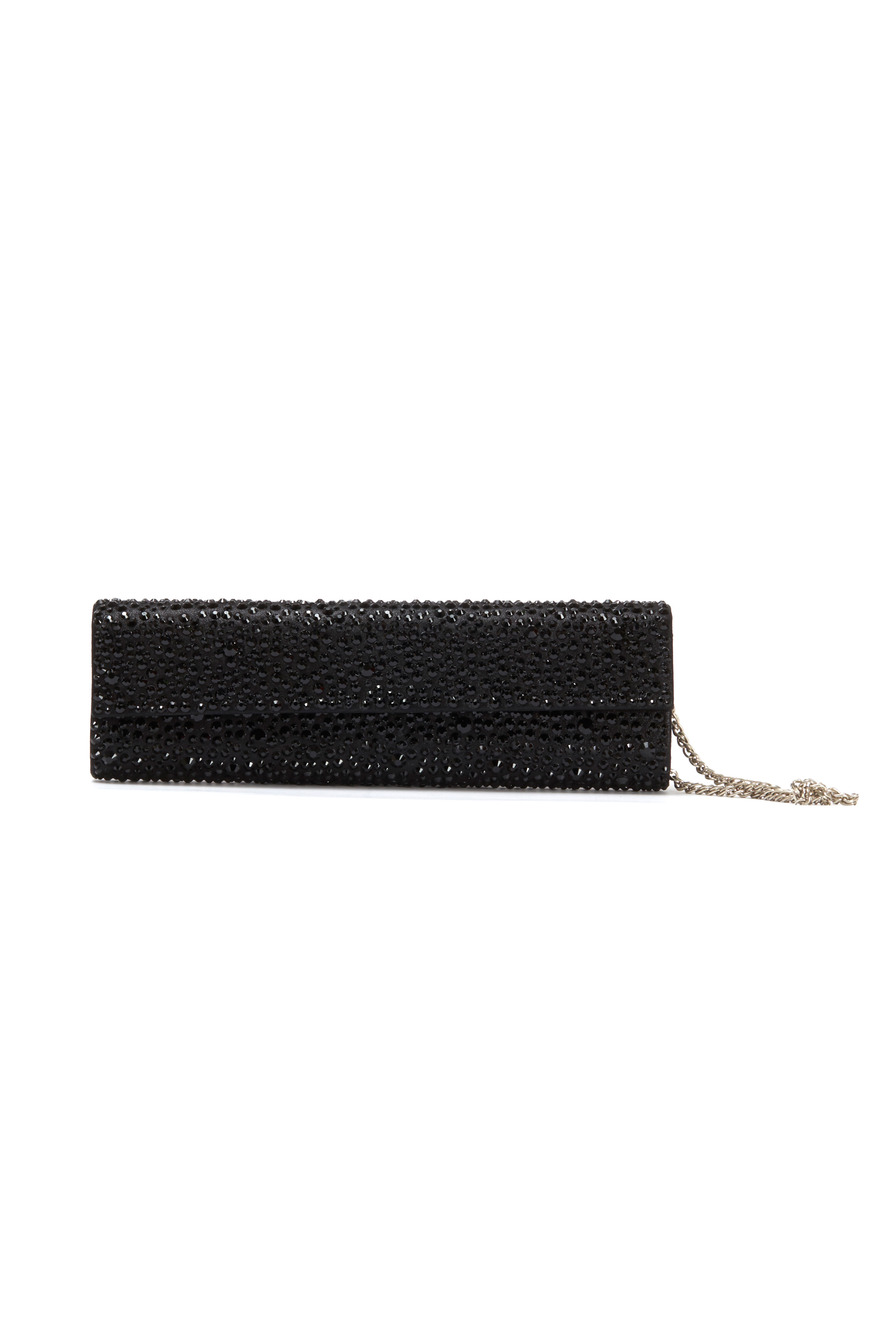 Black Beaded Clutch Evening Bag